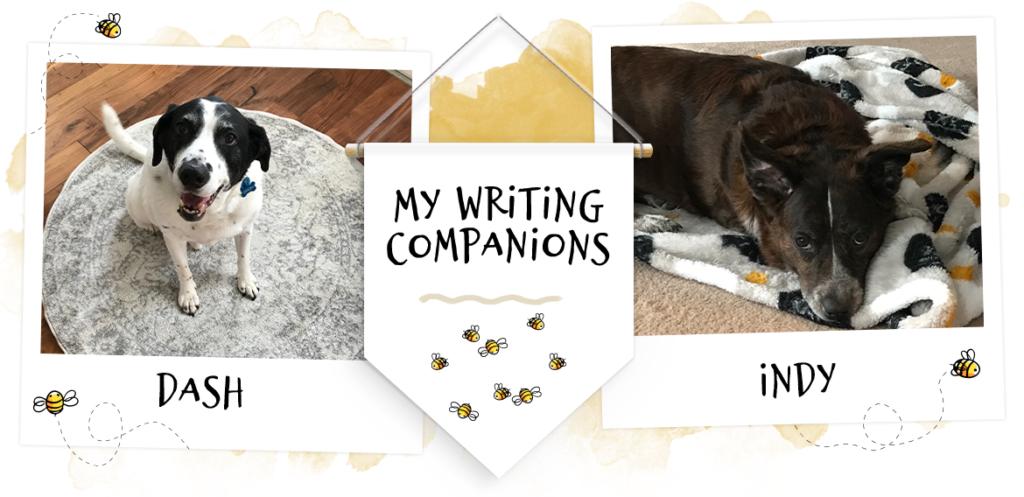 My writing companions, Dash & Indy